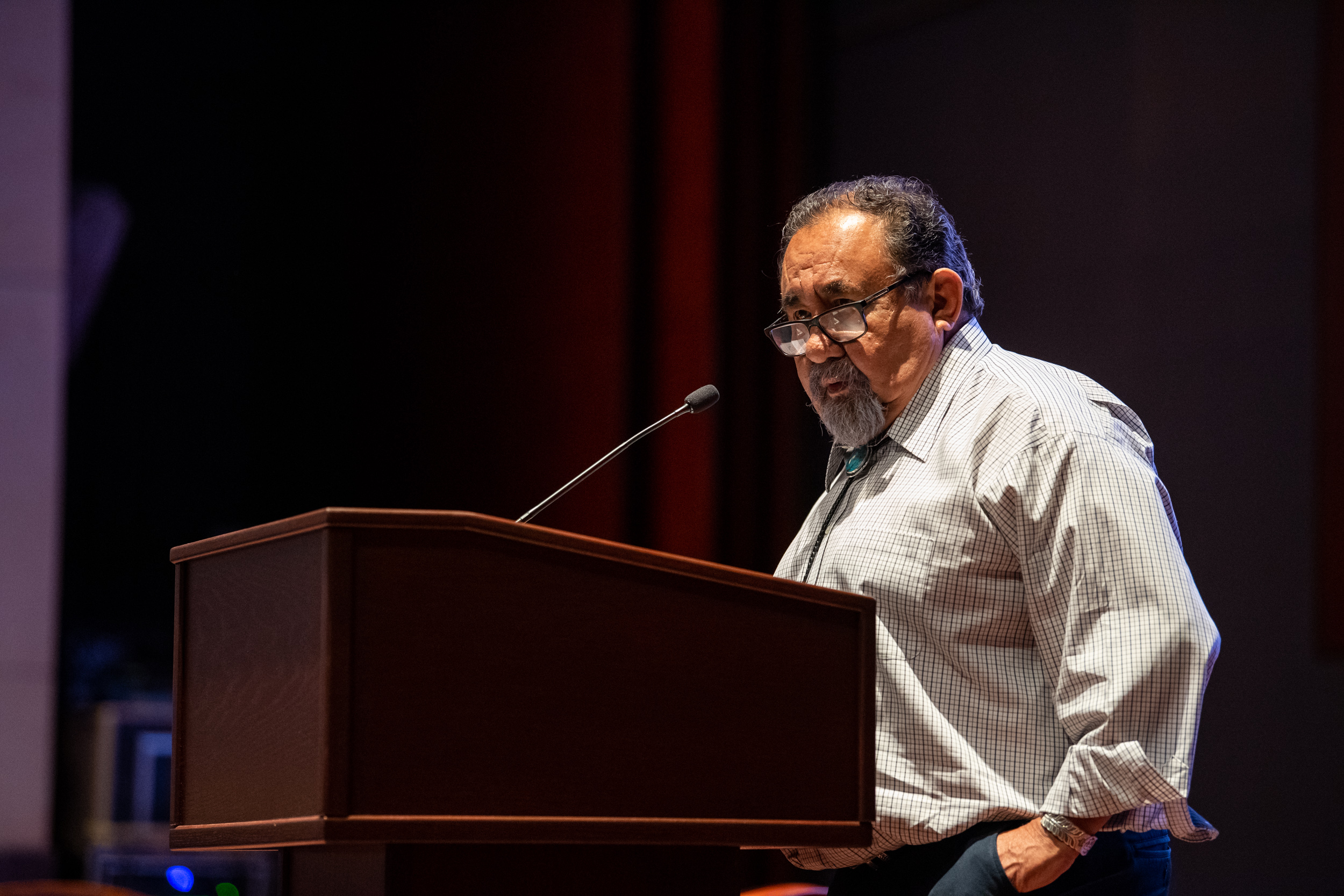 Chair Raul M. Grijalva addresses community leaders at the Environmental Justice Convening on June 26, 2019