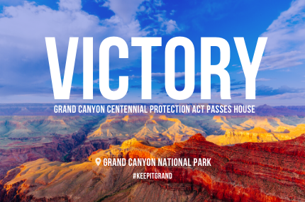 Chair Grijalva Hails Passage of Grand Canyon Centennial Protection Act