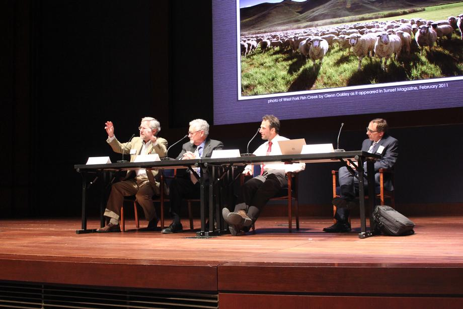 Panelists take questions on the Endangered Species Act and its effectiveness on wildlife preservation