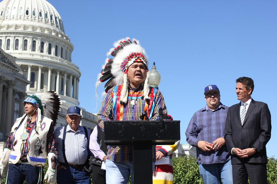 Chairman Brandon Sazue describes the Crow Creek Sioux Tribe as water protectors, defending the Missouri River from Standing Rock to the headwaters where grizzlies roam.