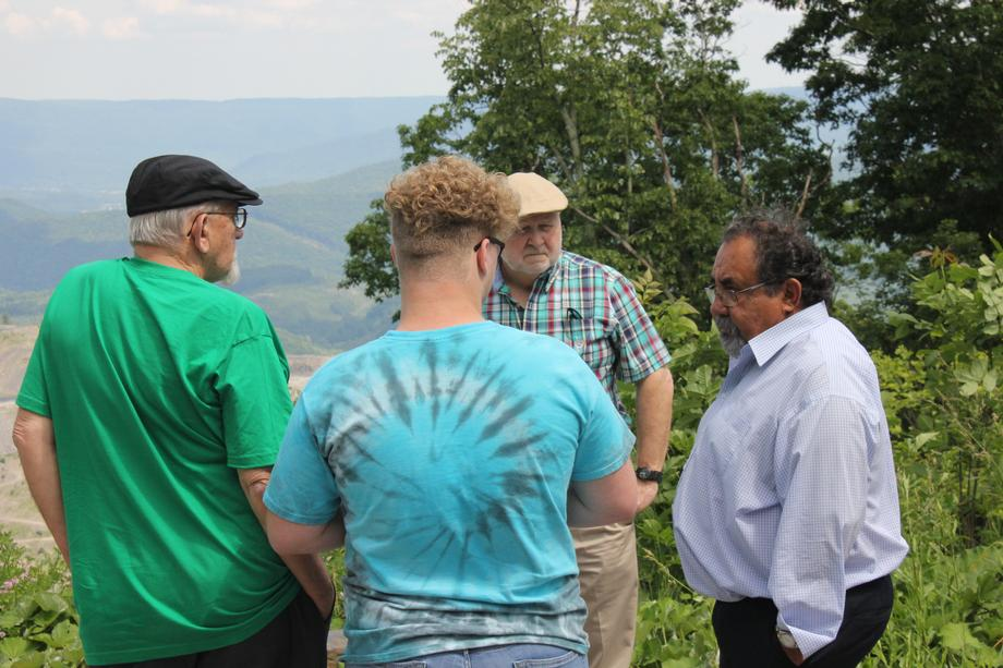 Ranking Member Grijalva discusses the environmental and health impacts of mountaintop removal mining with Stanley Sturgill of Kentucky, while overlooking the Looney Ridge Mountaintop Mine in Virginia.